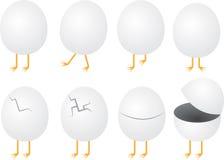 Ägg med fot vektor illustrationer