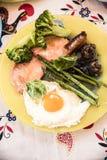 Ägg med kött Royaltyfri Fotografi