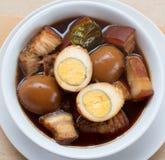 Ägg med kryddor. Royaltyfria Foton