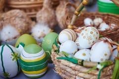 Ägg med prydnaden på mässan Royaltyfri Fotografi
