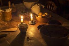 Ägg, mjölpåse och tarmar arkivfoto
