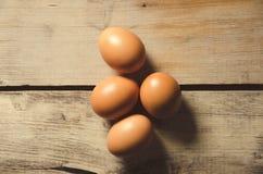 Ägg Nya fega ägg som är klara för att laga mat Arkivbilder