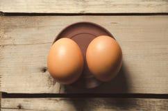 Ägg Nya fega ägg som är klara för att laga mat Royaltyfria Foton