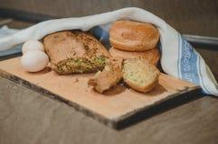 Ägg och bröd Arkivfoton