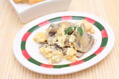 Ägg och champinjoner Royaltyfria Bilder