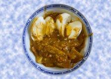 Ägg- och hönacurry royaltyfri bild