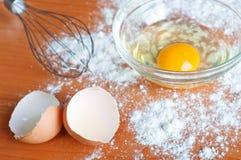 Ägg och mjöl Royaltyfri Foto