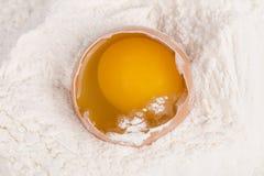 Ägg och mjöl Royaltyfria Foton