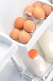 Ägg och mjölkar Royaltyfri Foto
