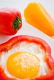 Ägg och peppar Royaltyfri Fotografi