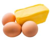 Ägg och smör I Arkivfoto