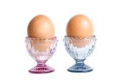 Ägg på ägg-ställningen Royaltyfri Foto