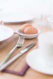 Ägg på bunken Fotografering för Bildbyråer