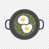 Ägg på laggsymbolen, lägenhetstil vektor illustrationer