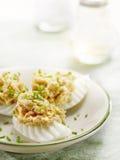 Ägg som är välfyllda med sallad Royaltyfri Foto