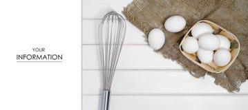 Ägg som är vita i askblomkronamodell Arkivbild