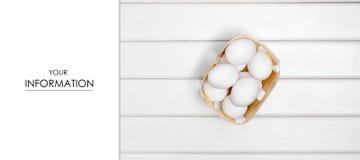Ägg som är vita i askmodell Arkivfoton