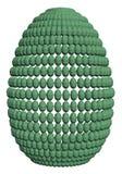 Ägg som består av en uppsättning av polygonal ägg royaltyfri foto