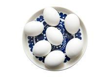 Ägg som isoleras på den vita bakgrunden Royaltyfri Bild