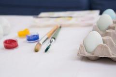 Ägg som målas för easter söndag Royaltyfria Foton