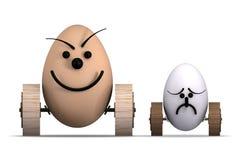 Ägg som springer No.4 Arkivbild