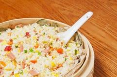 Ägg stekte rice Fotografering för Bildbyråer