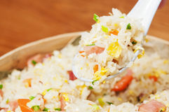 Ägg stekte rice Royaltyfria Bilder