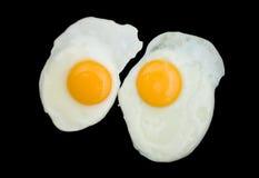 ägg stekte två royaltyfria bilder
