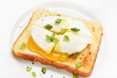 ägg tjuvjagad rostat bröd Royaltyfri Foto