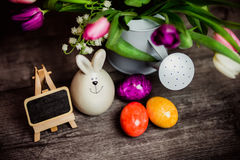 Ägg undersöker för easter Fotografering för Bildbyråer