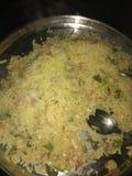 Ägget avfyrade ris royaltyfria bilder