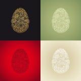 Ägget eller ovalen formade den organiska rökiga motivillustrationen Arkivfoton
