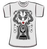 ägget för designen för bakgrundsblackclosen stekte upp pannaskjorta t Royaltyfria Bilder