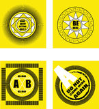 ägget för designen för bakgrundsblackclosen stekte upp pannaskjorta t Emblemdesign royaltyfri foto