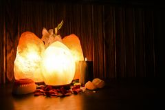 Ägget & naturliga saltar lampor | Himalayan salta royaltyfri fotografi