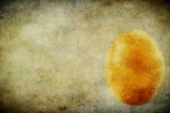 Ägget på en grungebakgrund Fotografering för Bildbyråer