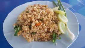 ägget stekte rice Royaltyfri Bild