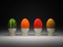 äggfrukt stock illustrationer