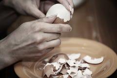 Äggmatlagning Fotografering för Bildbyråer