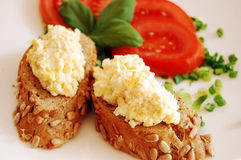 äggpastesmörgåsar Royaltyfri Foto