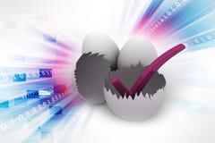 Äggskal med kontrollallsång vektor illustrationer