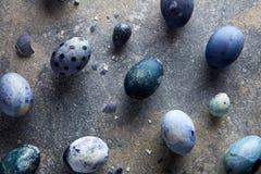 Äggskal- och blåttägg Arkivbild