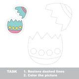 Äggskal som ska spåras Vektorspårlek vektor illustrationer