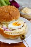 äggsmörgås Arkivfoto