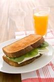 äggsmörgåswhite Arkivbild