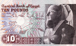 Ägypten 10 Pfund Stockfotos