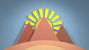 Ägypten-Animation stock footage