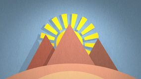 Ägypten-Animation stock video