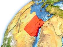 Ägypten auf Modell von Planet Erde vektor abbildung