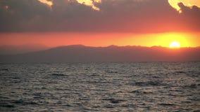 Ägypten-Dämmerung auf dem Roten Meer stock video